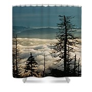 Clingman's Dome Sea Of Clouds - Smoky Mountains Shower Curtain