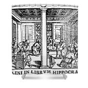Clinic Scene, 1550 Shower Curtain