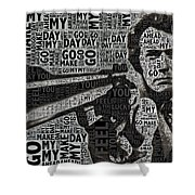 Clint Eastwood Dirty Harry Shower Curtain