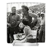 Clint Eastwood  Eric Fleming Characters Rowdy Yates Salinas California 1962 Shower Curtain