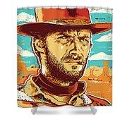 Clint Eastwood Pop Art Shower Curtain