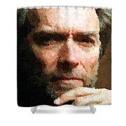 Clint Eastwood Portrait Shower Curtain