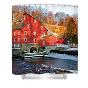 Clinton Mill In Winter Shower Curtain