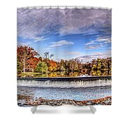 Clinton Nj Historic Red Mill Pano Shower Curtain