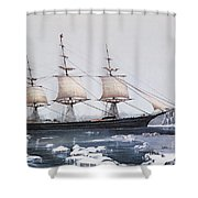 Clipper Ship Red Jacket In The Ice Off Cape Horn On Her Passage From Australia To Liverpool Shower Curtain