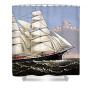 Clipper Ship Three Brothers Shower Curtain