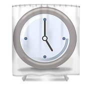 Clock Five Shower Curtain