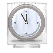 Clock Five Mintures Before Twelve Shower Curtain