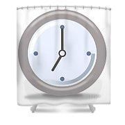 Clock Seven Shower Curtain