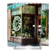 Clock Shop Shower Curtain