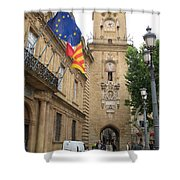 Clock Tower Aix En Provence Shower Curtain