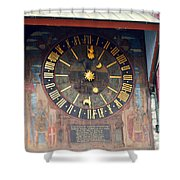 Clock Tower In Solothurn Shower Curtain