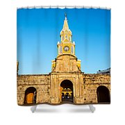 Clock Tower Gate Shower Curtain