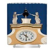 Clock Tower In Bardolino Shower Curtain