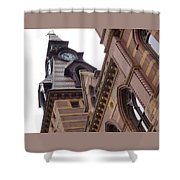 Clock Tower In New Haven Connecticut Shower Curtain