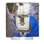 Clock Tower Reflected Shower Curtain