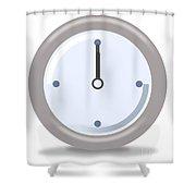 Clock Twelve Shower Curtain