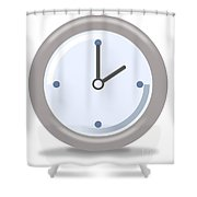 Clock Two Shower Curtain