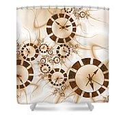 Clocks Shower Curtain
