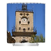 Clocktower - Aix En Provence Shower Curtain