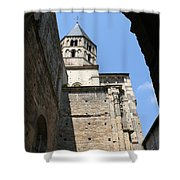 Cloister Cluny Church Steeple Shower Curtain