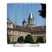 Cloister Cluny Garden View Shower Curtain