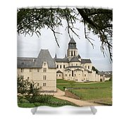 Cloister Fontevraud View - France Shower Curtain