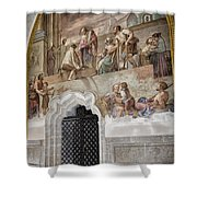 Cloister Fresco Shower Curtain by Joan Carroll