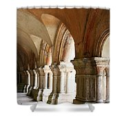 Cloister In Fontenay Abbey, France Shower Curtain