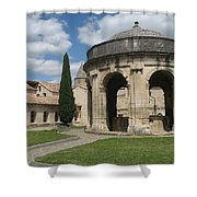 Cloister Of Saint John Chartreuse Du Val De Benediction Shower Curtain
