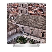 Cloistered Garden And Tower In The White City Shower Curtain