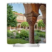 Cloisters Courtyard Shower Curtain
