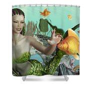 Close Encounter Shower Curtain