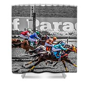 Close Finish At Turf Paradise Shower Curtain