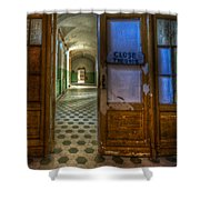 Close The Door Shower Curtain