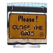 Close The Gate Shower Curtain