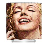 Close Up Beautifully Happy Shower Curtain