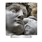 Close-up Face Statue Of David In Florence Shower Curtain
