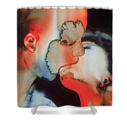 Close Up Kiss Shower Curtain