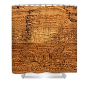 Close Up Of A Rocky Outcrop At Wadi Rum In Jordan Shower Curtain