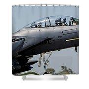 Close-up Of A U.s. Air Force F-15e Shower Curtain