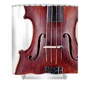 Close Up Of A Violine Shower Curtain