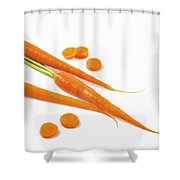 Close-up Of Fresh Carrots Shower Curtain