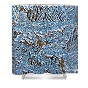 Close Up Of Frost Shower Curtain