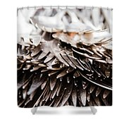 Close Up Of Heap Of Silver Forks Shower Curtain