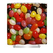 Close Up Of Jelly Beans Shower Curtain