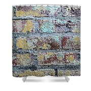 Close-up Of Old Brick Wall Shower Curtain