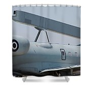 Close-up Of Radar On The Hellenic Air Shower Curtain