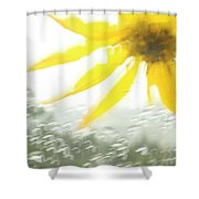 Close-up Of Yellow Wildflower In Grand Shower Curtain