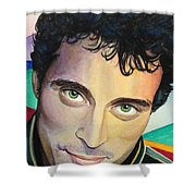 Close Up Portrait Rufus Sewell Shower Curtain